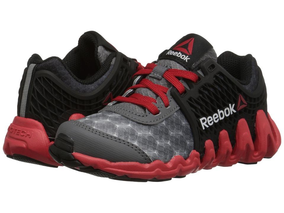 Reebok Kids - ZigTech Big N Fast EX (Little Kid) (Shark/Black/Red Rush/White) Boys Shoes