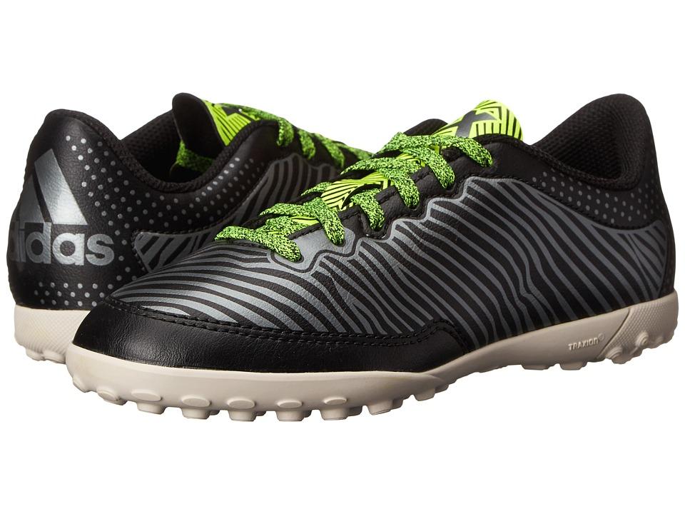 adidas Kids - X 15.3 CG J Soccer (Little Kid/Big Kid) (Black/Solar Yellow/Night Metallic) Kids Shoes