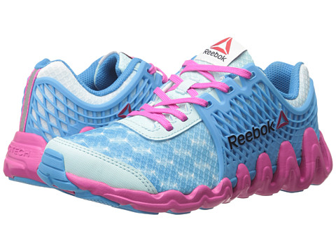 Reebok Kids - ZigTech Big N Fast EX (Little Kid) (Cool Breeze/California Blue/Charged Pink/White) Girls Shoes