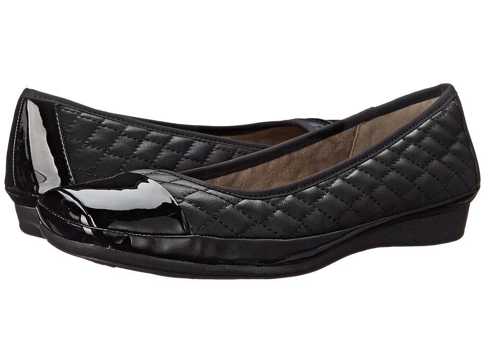 Naturalizer - Velma (Black Smooth/Shiny) Women's Shoes