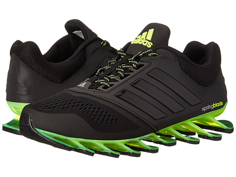 adidas Kids - Spring Blade (Little Kid/Big Kid) (Black/Yellow) Boys Shoes