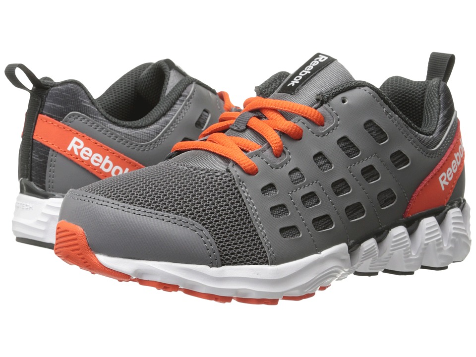 Reebok Kids - Zigkick Doom (Little Kid) (Shark/Flat Grey/Ultima Orange/White/Gravel) Boys Shoes