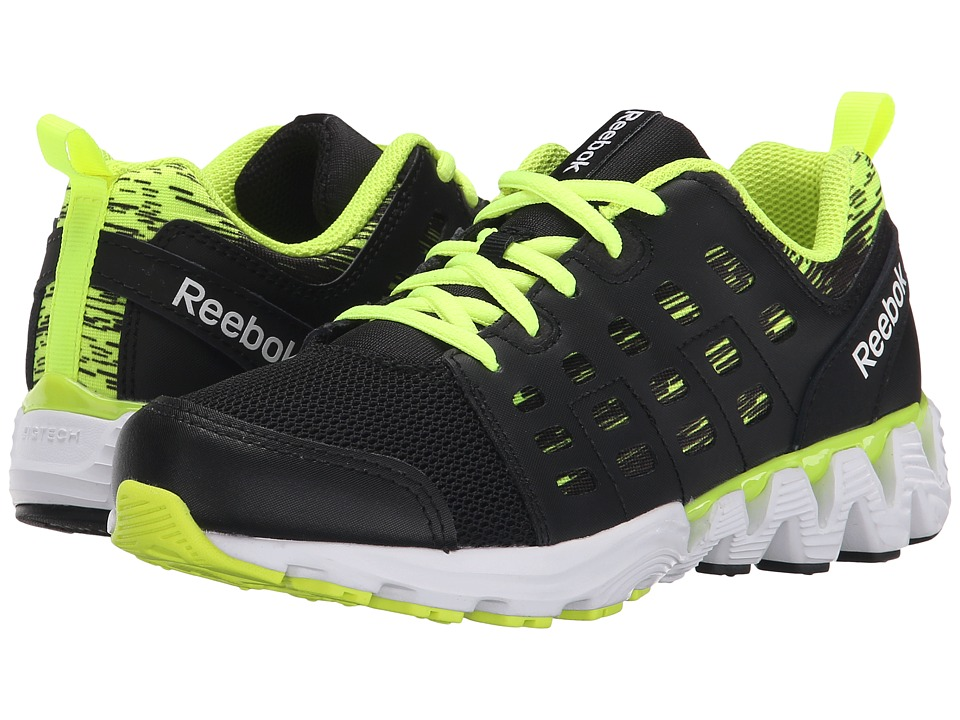 Reebok Kids - Zigkick Doom (Little Kid) (Black/Solar Yellow/White) Boys Shoes