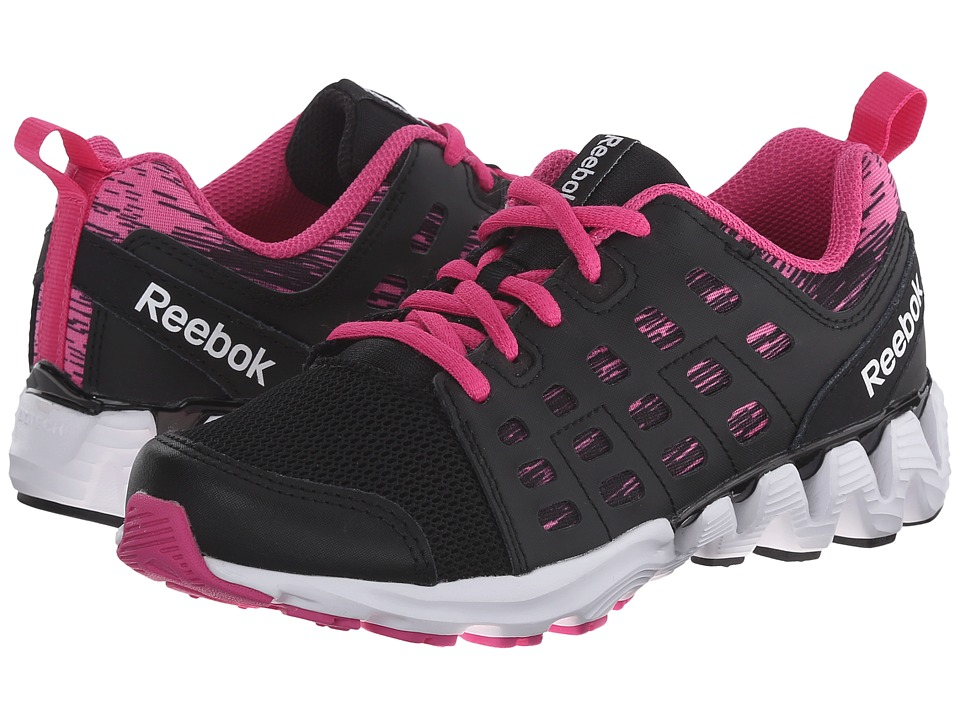Reebok Kids - Zigkick Doom (Little Kid) (Black/Charged Pink/White) Girls Shoes