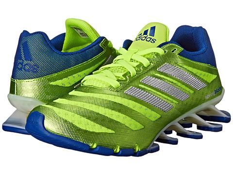 adidas Kids - Spring Blade Ignite (Little Kid/Big Kid) (Yellow/Silver/Royal) Boys Shoes