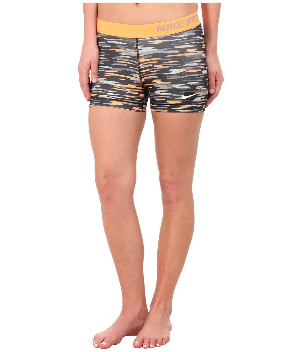 Nike - Dri-FIT Pro 3 Haze Shorts (Bright Citrus/Black/White) Women