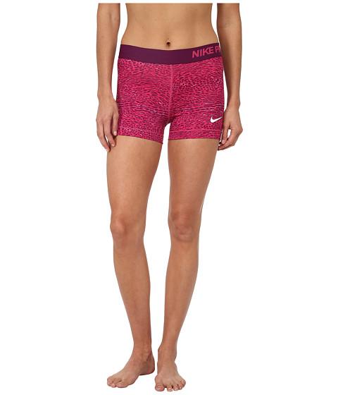Nike - Dri-FIT Pro 3 Venom Shorts (Vivid Pink/Mulberry/White) Women's Shorts