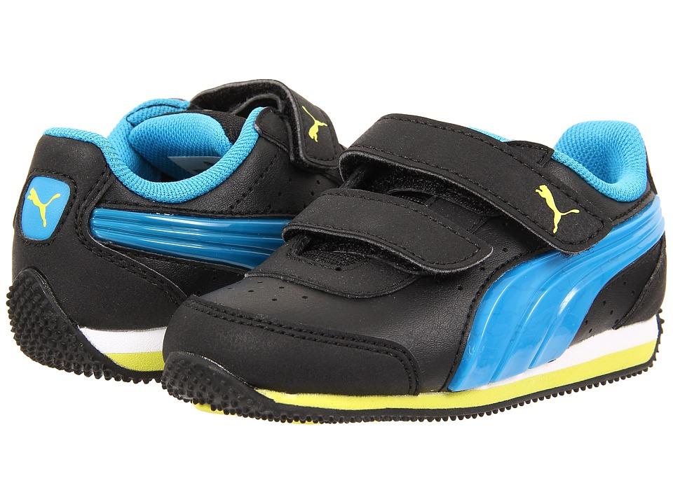 Puma Kids - Speed Light Up V (Toddler/Little Kid/Big Kid) (Black/Cloisonne/Sulphur Spring) Boys Shoes