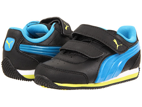 Puma Kids - Speed Light Up V (Toddler/Little Kid/Big Kid) (Black/Cloisonne/Sulphur Spring) Boys Shoes