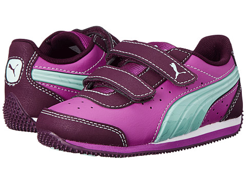 Puma Kids - Speed Light Up V (Toddler/Little Kid/Big Kid) (Italian Plum/Fair Aqua/Meadow Mauve) Girls Shoes