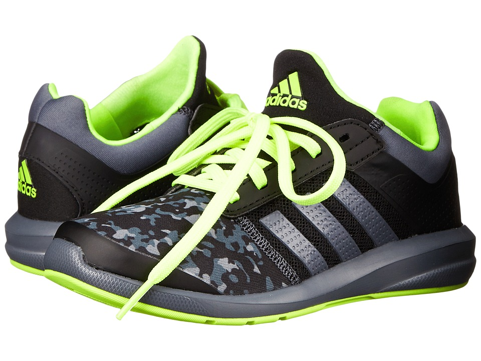 adidas Kids - S-flex K (Little Kid/Big Kid) (Black/Onix/Solar Yellow) Boys Shoes