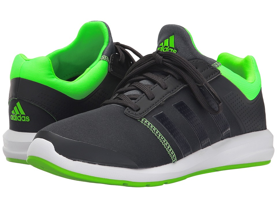 adidas Kids S-flex K (Little Kid/Big Kid) (Dark Grey Heather/Carbon/Solar Green) Boys Shoes