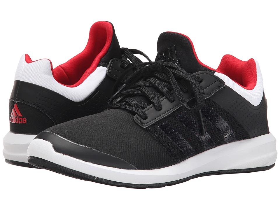 adidas Kids - S-flex K (Little Kid/Big Kid) (Black/White/Scarlet) Boys Shoes