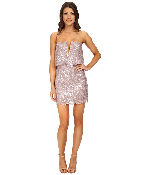 BCBGMAXAZRIA - Kate Sequined Strapless Dress (Lilac Mauve Combo) Women's Dress