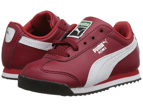 Puma Kids - Roma Basic Kids (Toddler/Little Kid/Big Kid) (Rio Red/White/Puma Silver) Boys Shoes