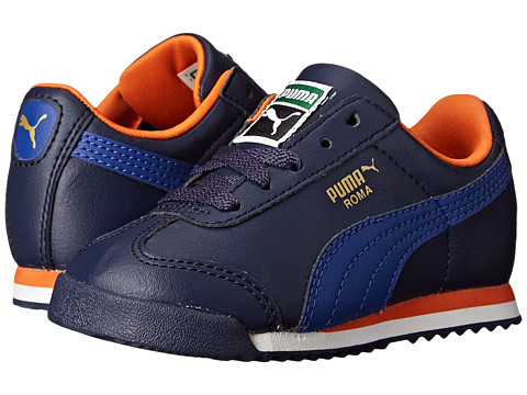 Puma Kids - Roma Basic Kids (Toddler/Little Kid/Big Kid) (Peacoat/Surf The Web) Boys Shoes