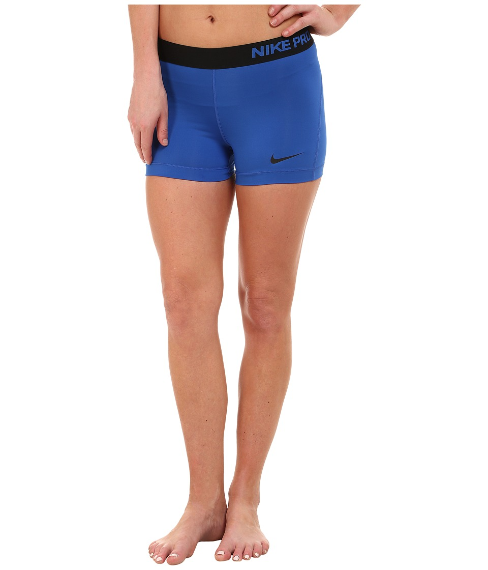 Nike - Pro Three-Inch Short (Game Royal/Black/Black) Women