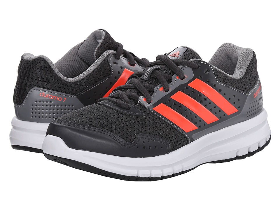 adidas Kids Duramo 7 K (Little Kid/Big Kid) (DGH Solid Grey/Solar Red/CH Solid Grey) Boys Shoes