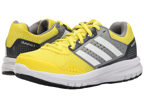 adidas Kids - Duramo 7 K (Little Kid/Big Kid) (Yellow/Grey) Boys Shoes