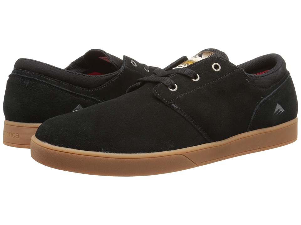 Emerica - The Figueroa (Black/Gum) Men's Skate Shoes