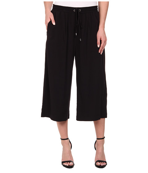 Karen Kane - Drawstring Culottes (Black) Women's Clothing