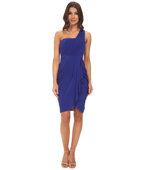 BCBGMAXAZRIA - Julieta One Shoulder Dress (Royal Blue) Women
