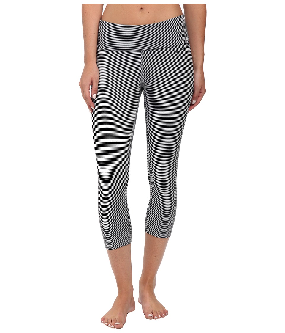 Nike - Dri-FIT Legend 2.0 Foldover Waistband Capri (White/Black/Black) Women's Capri