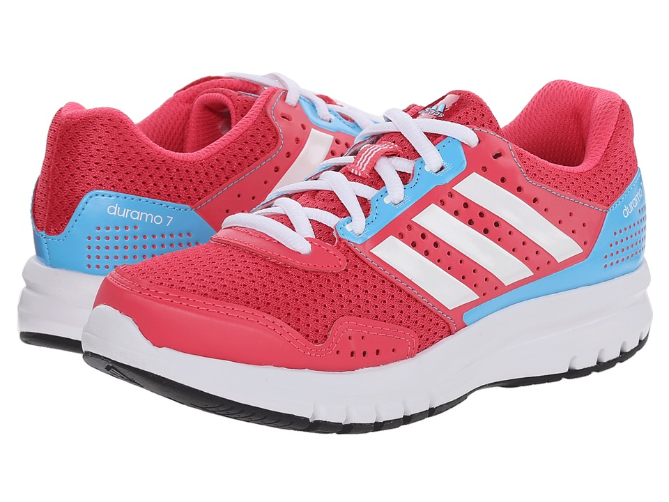 adidas Kids - Duramo 7 K (Little Kid/Big Kid) (Super Pink/White/Bright Cyan) Girls Shoes