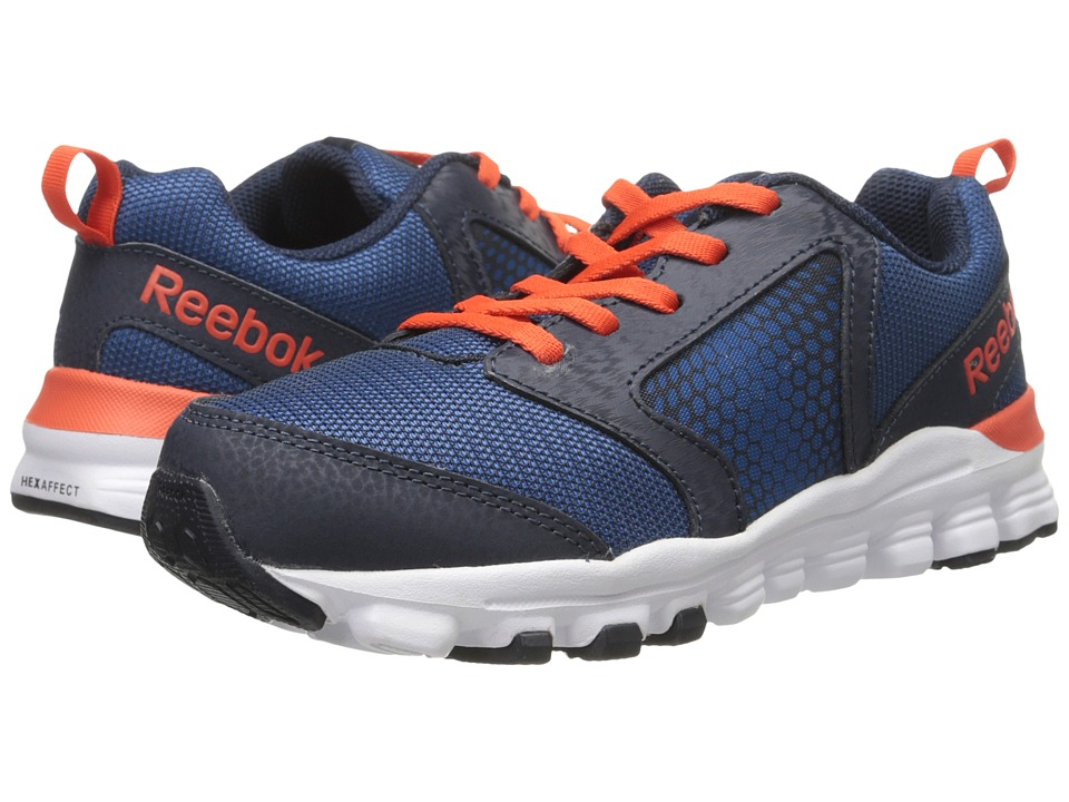 Reebok Kids - Hexaffect Run 2.0 Wild (Little Kid) (Handy Blue/Faux Indigo/Ultima Orange/White) Boys Shoes