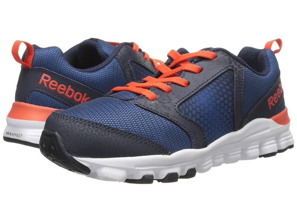 Reebok Kids - Hexaffect Run 2.0 Wild (Little Kid) (Handy Blue/Faux Indigo/Ultima Orange/White) Boys Shoes