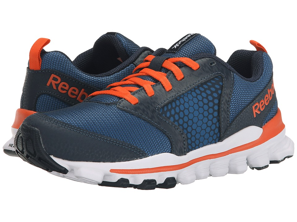 Reebok Kids - Hexaffect Run 2.0 Wild (Big Kid) (Handy Blue/Faux Indigo/Ultima Orange/White) Boys Shoes