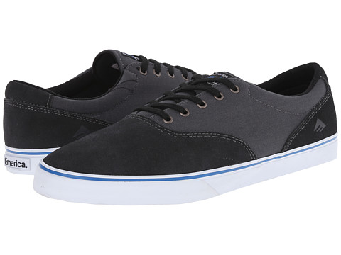 Emerica - The Provost Slim Vulc X Toy Machine (Black/Grey) Men's Skate Shoes