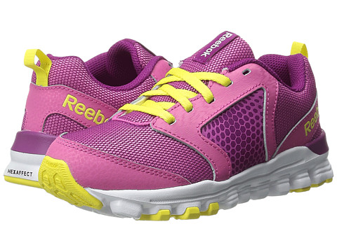 Reebok Kids - Hexaffect Run 2.0 Wild (Little Kid) (Charged Pink/Fierce Fuchsia/Stinger Yellow) Girls Shoes
