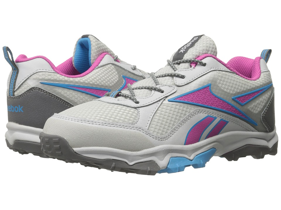 Reebok Kids - Take The Trail Low (Little Kid/Big Kid) (Steel/Charged Pink/California Blue/Shark) Girls Shoes