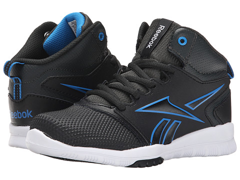 Reebok Kids - Own The Court (Little Kid/Big Kid) (Black/Cycle Blue/White) Boys Shoes