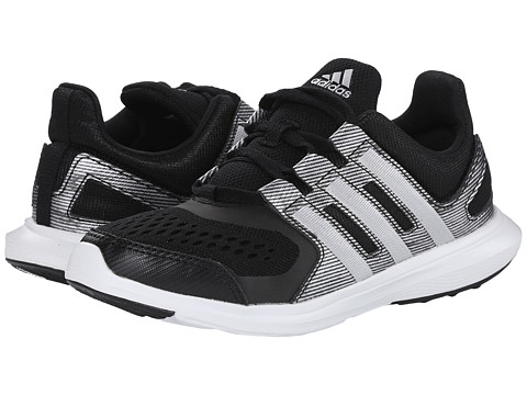 adidas Kids - Hyperfast 2.0 K Print (Little Kid/Big Kid) (Black/Silver Metallic/White) Boys Shoes