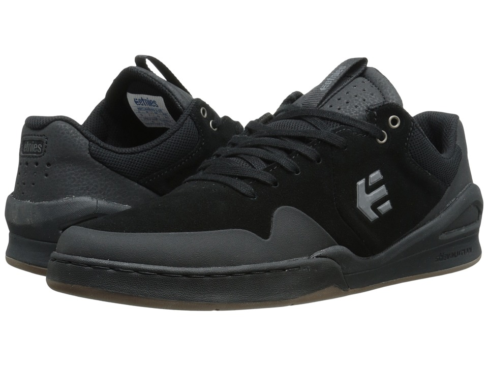 etnies - Marana E-Lite (Black/Black/Gum) Men's Skate Shoes