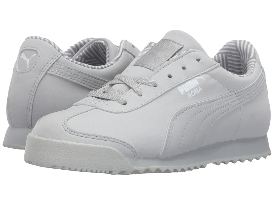Puma Kids - Roma NM (Little Kid/Big Kid) (Gray Violet/White) Boys Shoes