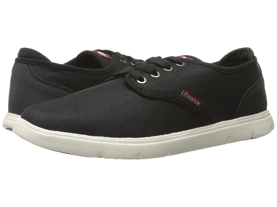 Emerica - Wino Cruiser LT (Black/White/Burgundy) Men