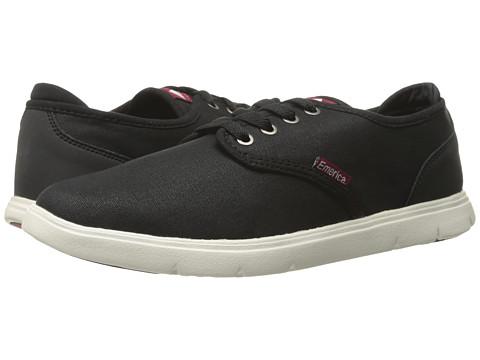 Emerica - Wino Cruiser LT (Black/White/Burgundy) Men's Skate Shoes