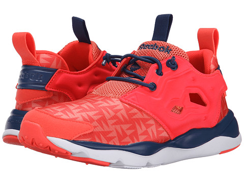 Reebok Kids - Furylite (Big Kid) (Neon Cherry/Rosette/Batik Blue/White) Boys Shoes