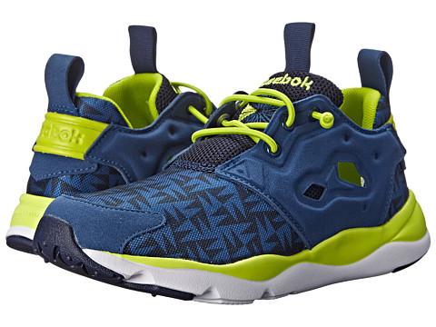 Reebok Kids - Furylite (Big Kid) (Batik Blue/Faux Indigo/Semi Solar Yellow/White) Boys Shoes
