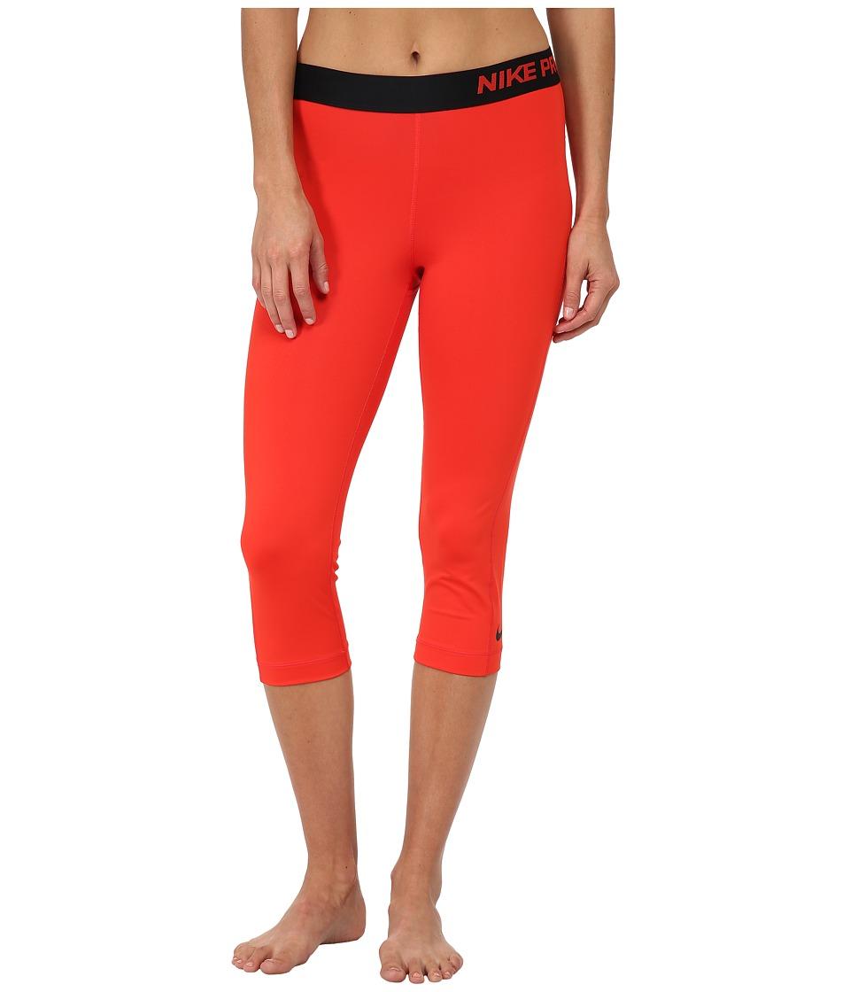 Nike - Pro Capri (Light Crimson/Black) Women