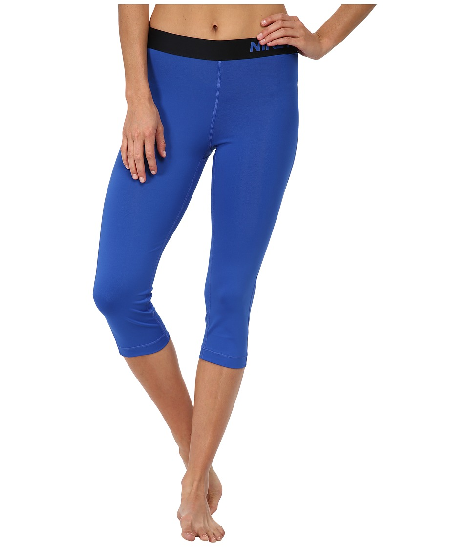 Nike - Pro Capri (Game Royal/Black) Women