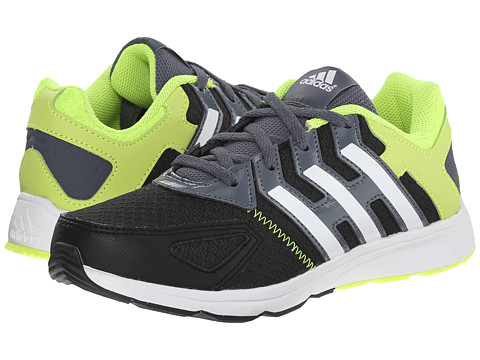 adidas Kids - Az-Faito K (Little Kid/Big Kid) (Black/White/Solar Yellow) Boys Shoes