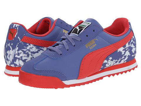 Puma Kids - Roma Basic MP Floral (Little Kid/Big Kid) (Bleached Denim/White) Girls Shoes