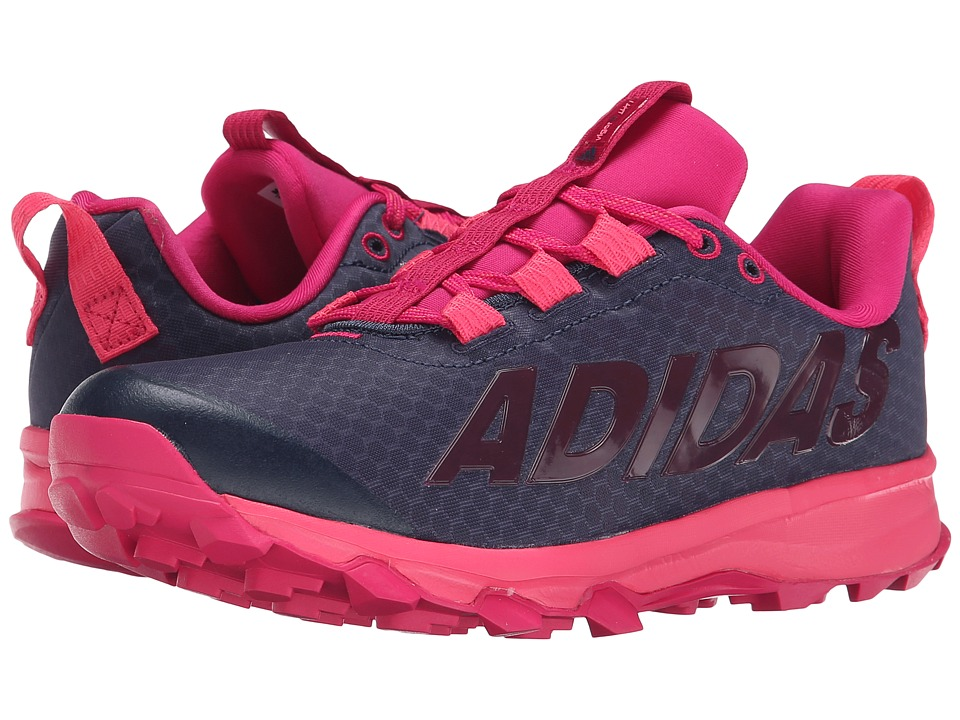 adidas Kids - Vigor 6 TR K (Little Kid/Big Kid) (Midnight Grey/Super Pink/Bold Pink) Girls Shoes