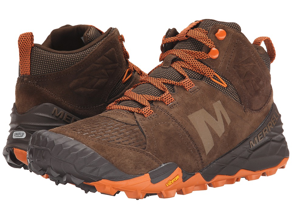 Merrell - Terra Turf Mid (Brown) Men's Hiking Boots