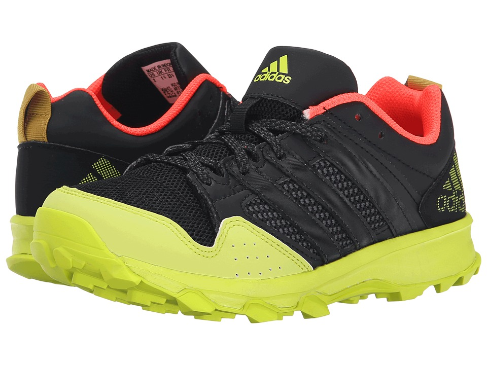 adidas Kids Kanadia 7 TR K (Little Kid/Big Kid) (Black/Black/Solar Yellow) Boys Shoes