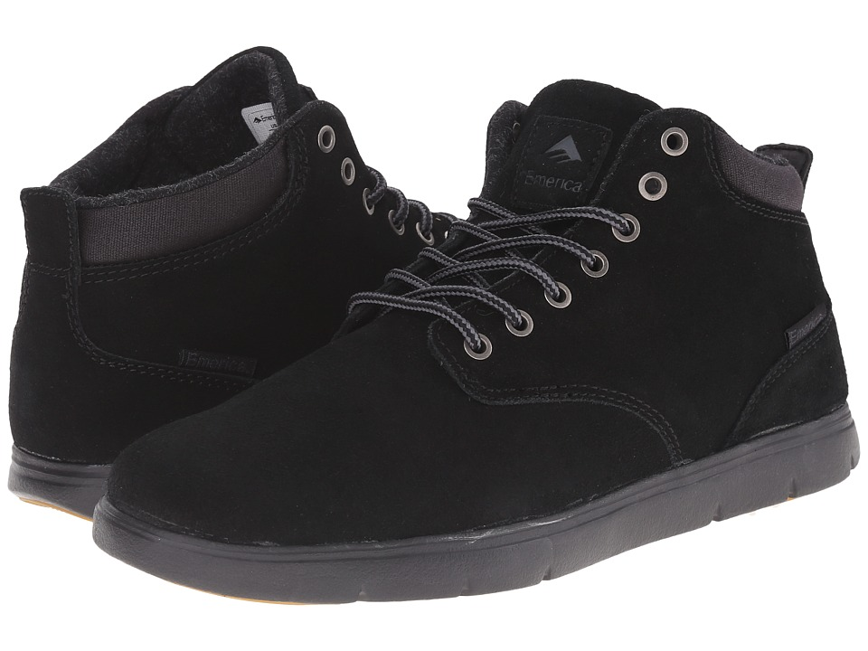 Emerica - Wino Hi LT (Black/Black) Men's Skate Shoes